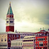 Campanile Of St. Mark And The Doge's Palace In Venice