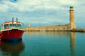 Lighthouse. Greece. Crete. Rethymnon.
