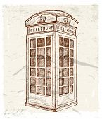 illustration of telephone cabin