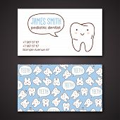 Medical business or visiting cards for dentist.