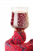 The Wineglass with Wine Muffled in Scarf
