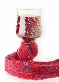pic of glass-wool  - Warmed by Scarf Glass with Red Wine - JPG