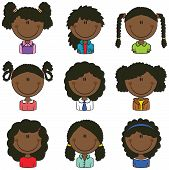 African-american Girls Avatar