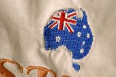 Embroidered Map Of Australia