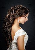 Beautiful Bride With Fashion Wedding Hair-style