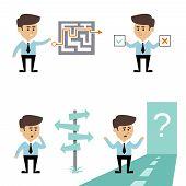 Businessman search decision