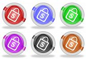 Shopping Bag Web Icon Button