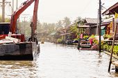 Digger In Thai Village