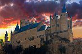Alcazar In Segovia, Spain