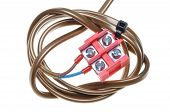 Electric cable with terminal block