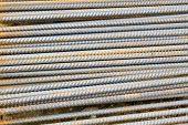 foto of rod  - rusty grunge steel rods  - JPG