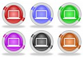 Laptop Computer Web Icon Button