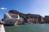 Cruiseship Moored At Gibraltar