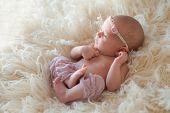 Alert Newborn Baby Girl