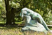 Sculpture Eve In The Park Ujazdowski In Warsaw
