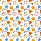 pattern with Hanukkah symbols , jewish holiday