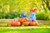 Sweet children At Pumpkin Patch