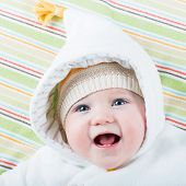 Happy Baby In A Hat