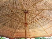 Beige Wood on The Umbrella Of Base