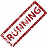 Running rubber stamp