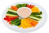 Green Salad And Sauce Dip