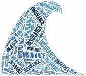 Flood Insurance. Word Cloud Illustration.