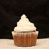 Cupcake with cream frosting