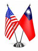 USA and Republic China - Miniature Flags.