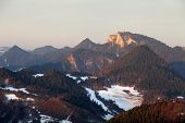 Pieniny national park - Poland and Slovakia at winter