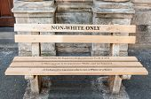 Non Whites Only -reconstructed Apartheid Bench In Cape Town