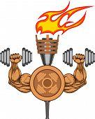 Symbol of bodybuilding