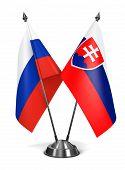 Russia and Slovakia - Miniature Flags.