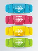 Colorful Polygonal Origami Ribbons, Vector