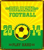 Brazilian football poster