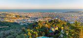 Barcelona from Mount Tibidabo