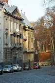Old Dwelling Houses In Lviv, Ukraine