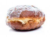 Polish donut shot on white  background