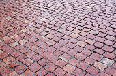 Cobblestones Of Red Granite