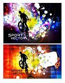 BMX sport vector illustration