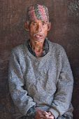 Nepalese Old Peasant