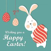 picture of easter eggs bunny  - Easter bunny and easter egg - JPG