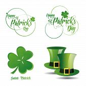 a set of different labels and elements for patrick's day