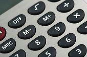 Macro view of calculator board