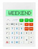 Calculator With Weekend