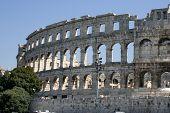 The Famous Roman Landmark In Croatia poster