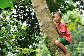 Asian Child Playing