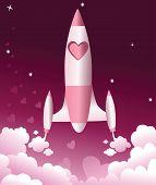 Valentine love rocket