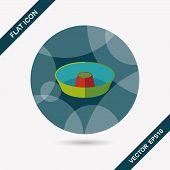 pic of juicer  - Kitchenware Juicer Flat Icon With Long Shadow - JPG