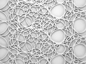 3D Background With Chaotic Intersected Relief Circles Pattern