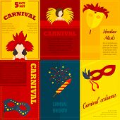 Carnival icons composition poster